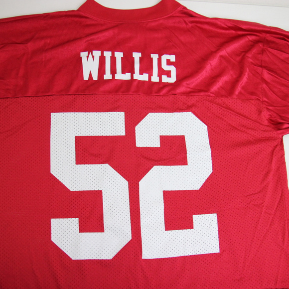 reputable site 73af3 9bb04 SF 49ers Mens Patrick Willis #52 Jersey Size Large